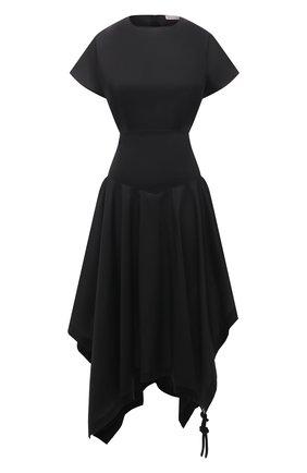 Женское хлопковое платье 1 moncler jw anderson MONCLER GENIUS черного цвета, арт. G1-09E-2G706-00-M1173   Фото 1