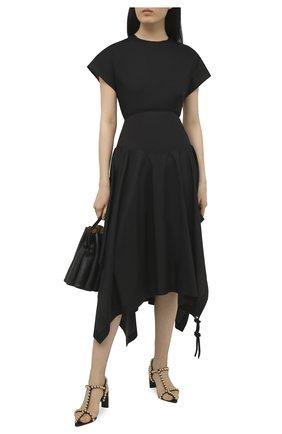 Женское хлопковое платье 1 moncler jw anderson MONCLER GENIUS черного цвета, арт. G1-09E-2G706-00-M1173   Фото 2