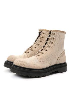Женские текстильные ботинки PREMIATA бежевого цвета, арт. M6003/NINFA | Фото 1