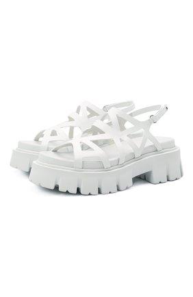 Женские кожаные сандалии PREMIATA белого цвета, арт. M6068/GAUCH0 | Фото 1