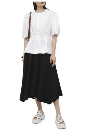 Женские кожаные сандалии PREMIATA белого цвета, арт. M6068/GAUCH0 | Фото 2