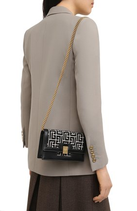 Женская сумка 1945 BALMAIN черно-белого цвета, арт. VN0RR114/TJGH | Фото 2