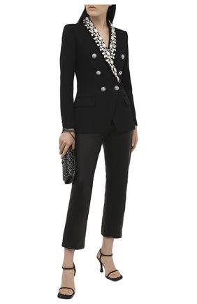 Женский шерстяной жакет BALMAIN черного цвета, арт. VF17471/W125 | Фото 2