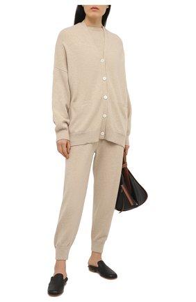 Женский кашемировый пуловер EXTREME CASHMERE бежевого цвета, арт. 098/KID | Фото 2