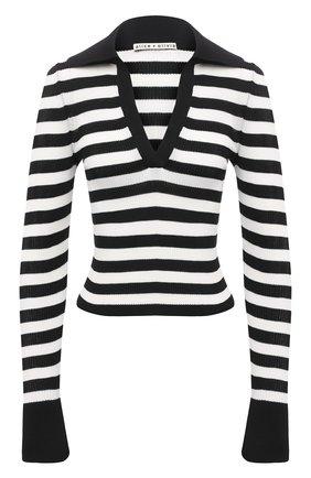 Женский пуловер из вискозы ALICE + OLIVIA черно-белого цвета, арт. CC011S04708   Фото 1