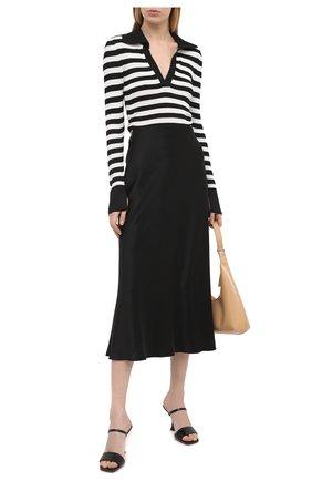 Женский пуловер из вискозы ALICE + OLIVIA черно-белого цвета, арт. CC011S04708   Фото 2