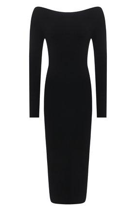 Женское платье из вискозы ALICE + OLIVIA черного цвета, арт. CL000526702 | Фото 1