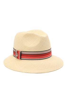 Женская соломенная шляпа ingrid LORO PIANA красного цвета, арт. FAI5791 | Фото 1 (Материал: Растительное волокно)