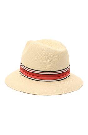 Женская соломенная шляпа ingrid LORO PIANA красного цвета, арт. FAI5791 | Фото 2 (Материал: Растительное волокно)