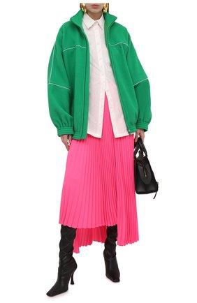 Женская куртка BALENCIAGA зеленого цвета, арт. 643053/TJQ32 | Фото 2