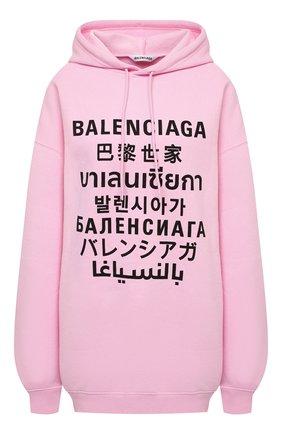 Женский худи BALENCIAGA розового цвета, арт. 641529/TJVI6 | Фото 1