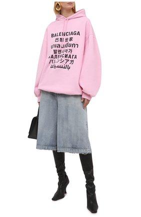 Женский худи BALENCIAGA розового цвета, арт. 641529/TJVI6 | Фото 2