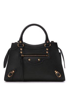 Женская сумка neo classic s BALENCIAGA черного цвета, арт. 638521/15Y41 | Фото 1 (Материал: Натуральная кожа; Размер: medium; Ремень/цепочка: На ремешке; Сумки-технические: Сумки top-handle, Сумки через плечо)