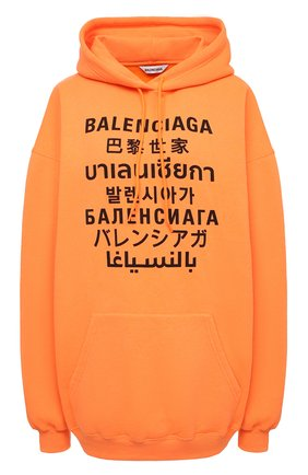 Женский худи BALENCIAGA оранжевого цвета, арт. 578135/TJVI6 | Фото 1