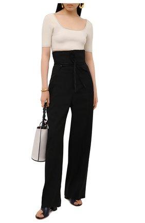 Женские брюки JACQUEMUS черного цвета, арт. 211PA05/103990 | Фото 2