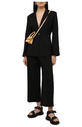 Женские брюки JACQUEMUS черного цвета, арт. 211PA02/103990 | Фото 2