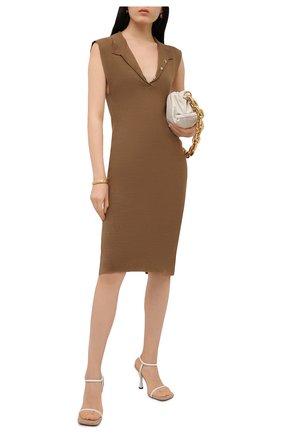 Женское льняное платье JACQUEMUS темно-бежевого цвета, арт. 211KN18/201830 | Фото 2