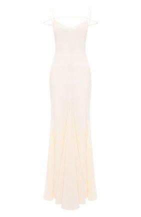 Женское льняное платье JACQUEMUS кремвого цвета, арт. 211DR20/101110 | Фото 1
