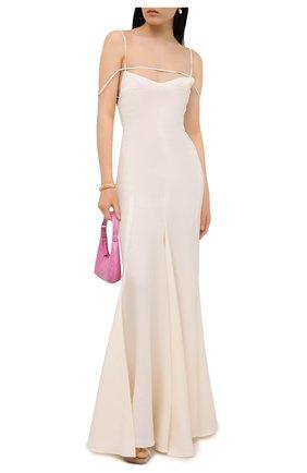 Женское льняное платье JACQUEMUS кремвого цвета, арт. 211DR20/101110 | Фото 2