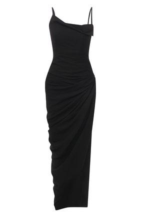 Женское платье из вискозы JACQUEMUS черного цвета, арт. 211DR01/102990 | Фото 1