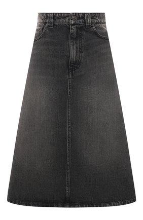 Женская джинсовая юбка BALENCIAGA черного цвета, арт. 646913/TBP47 | Фото 1