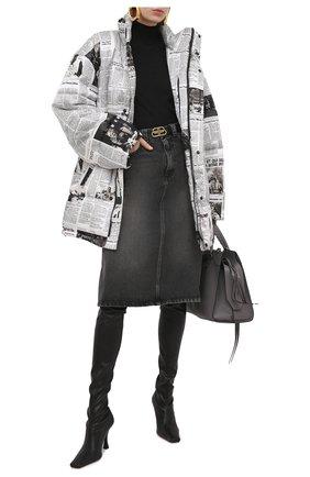 Женская джинсовая юбка BALENCIAGA черного цвета, арт. 646913/TBP47 | Фото 2