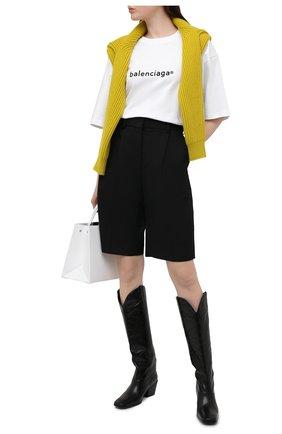 Женская хлопковая футболка BALENCIAGA белого цвета, арт. 641655/TIV54 | Фото 2