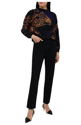 Женские кожаные туфли viola sling 55 CHRISTIAN LOUBOUTIN черного цвета, арт. 1210615/VI0LA SLING 55   Фото 2