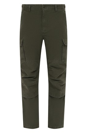 Мужские хлопковые брюки-карго BALENCIAGA хаки цвета, арт. 642154/TJP09 | Фото 1 (Длина (брюки, джинсы): Стандартные; Материал внешний: Хлопок; Стили: Гранж, Милитари; Случай: Повседневный; Силуэт М (брюки): Карго)