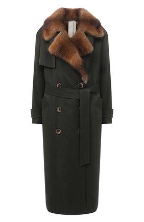 Женское пальто с меховой подкладкой COLOR TEMPERATURE разноцветного цвета, арт. Т,О-6,9/351 | Фото 1