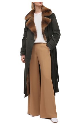 Женское пальто с меховой подкладкой COLOR TEMPERATURE разноцветного цвета, арт. Т,О-6,9/351 | Фото 2