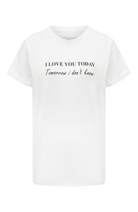 Женская хлопковая футболка SEVEN LAB белого цвета, арт. T20-ILYT P019 white   Фото 1