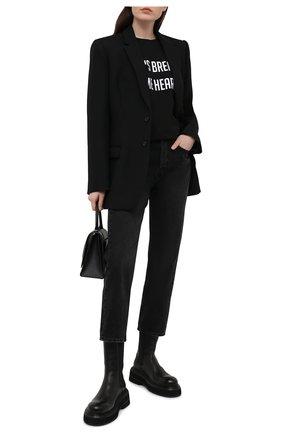 Женская хлопковая футболка SEVEN LAB черного цвета, арт. T20-BR HEART2-G01 black | Фото 2