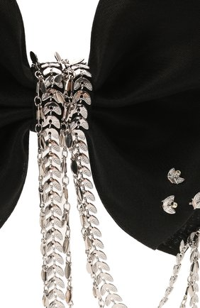 Женская бант PANFIL черного цвета, арт. Бант 0-D3-BrdS | Фото 3 (Материал: Текстиль, Шелк)