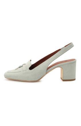 Женские замшевые туфли  LORO PIANA синего цвета, арт. FAI9981 | Фото 3