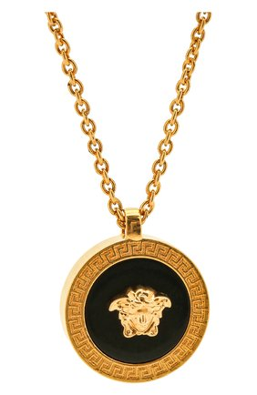 Женская кулон на цепочке medusa VERSACE золотого цвета, арт. DG17255/DJMR | Фото 2 (Материал: Металл)