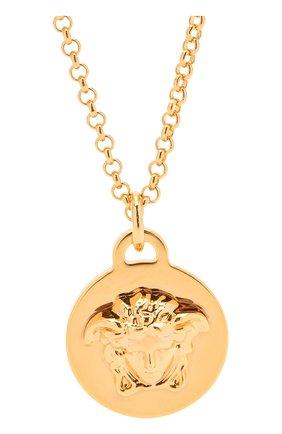 Женская кулон на цепочке medusa VERSACE золотого цвета, арт. DG1F009/DJMT | Фото 2 (Материал: Металл)