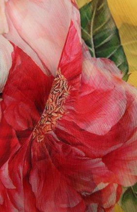 Женская шелковая шаль DOLCE & GABBANA розового цвета, арт. FS182A/GDV64   Фото 2
