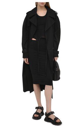 Женская юбка HELMUT LANG черного цвета, арт. K10HW304 | Фото 2