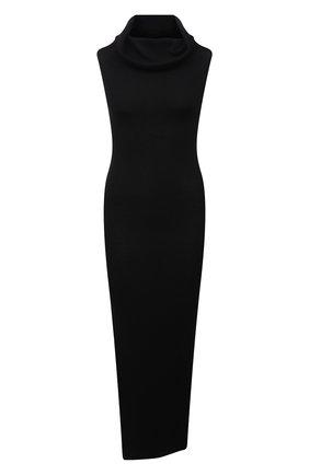 Женское шерстяное платье RICK OWENS черного цвета, арт. RP21S3627/RIBM   Фото 1