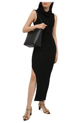 Женское шерстяное платье RICK OWENS черного цвета, арт. RP21S3627/RIBM   Фото 2