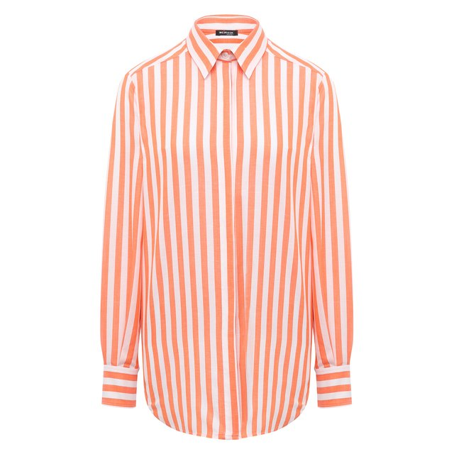 Рубашка из хлопка и льна Kiton