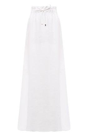 Женская льняная юбка KITON белого цвета, арт. D51213K06S98 | Фото 1