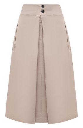 Женская хлопковая юбка TELA бежевого цвета, арт. 01 0157 11 0002 | Фото 1