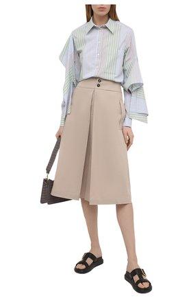 Женская хлопковая юбка TELA бежевого цвета, арт. 01 0157 11 0002 | Фото 2