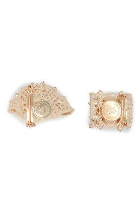 Женская набор из двух брошей ANTON HEUNIS золотого цвета, арт. RRSTSM4.01   Фото 2