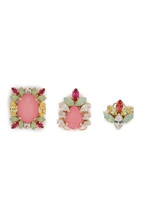 Женская набор из трех брошей ANTON HEUNIS розового цвета, арт. RRSTSM4.05   Фото 1
