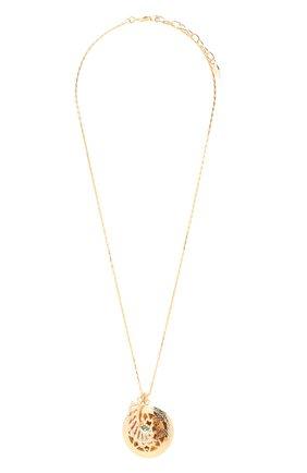 Женская кулон на цепочке ANTON HEUNIS золотого цвета, арт. SNT1.08   Фото 1