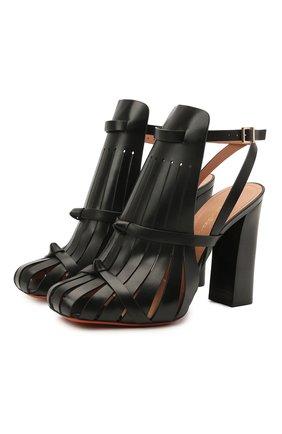 Женские кожаные босоножки SANTONI черного цвета, арт. WDGQ59317HA1NBGNN01   Фото 1