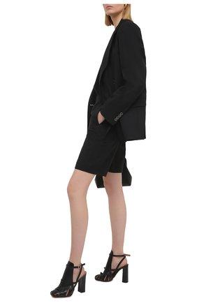 Женские кожаные босоножки SANTONI черного цвета, арт. WDGQ59317HA1NBGNN01   Фото 2